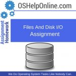 Files and Disk I/O